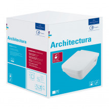 Villeroy & Boch ARCHITECTURA Modern Hanging Toilet w/ Soft-Close Seat and Cover BOX SET