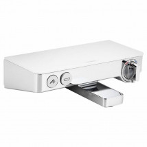 Hansgrohe ShowerTablet SELECT Bath Thermostat w/ Deck Top 2 Outlets 13151400 White
