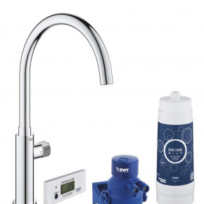 Grohe Blue Mono Mixer With Filter Function Tall Spout Kitchen Faucet 30387000