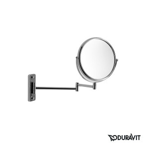 Duravit Karree Beauty Mirror Wall Mounted Round Magnification 3 0099161000