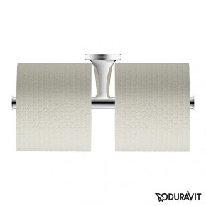 Duravit Starck T Double Toilet Roll Holder Wall Mounted Chrome 0099381000