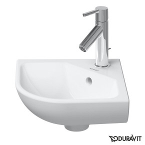 Duravit ME By Starck Bathroom Corner Basin 43 Wall Mounted Compact Size 0722430000