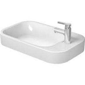 Duravit Happy D.2 Oval Countertop Bathroom Sink 65 With Tap Hole 23176500001