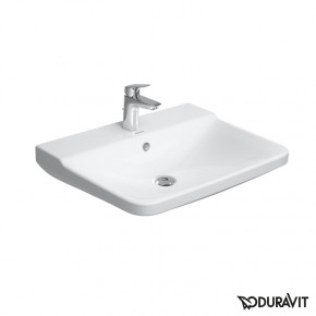 Duravit P3 Comforts Wall Mounted Sink 55 Overflow Clip W Raised Tap 2331550000