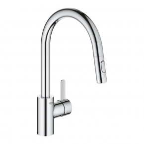 Grohe Eurosmart SIngle Lever Kitchen Tap With High Spout Pull Out Spray 31481001