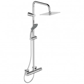 Ideal Standard Idealrain Cube Shower System W Wall Mounted Thermostatic Mixer A6985AA