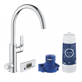 Grohe Blue Filtration System Tall C Spout Kitchen Faucet Swivelling Spout 30393000