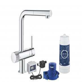 Grohe Blue Single Lever Sink Mixer With Filter Function Swivelling 30393000