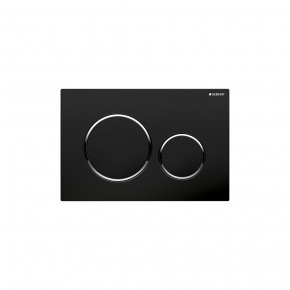 Geberit SIGMA 20 WC Actuator Dual Flush Plate Black In-Wall Flushing Buttons