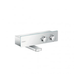 Hansgrohe ShowerTablet 131070 Bath Thermostat w/ Glass Plate and Deck Top 2 Outlets