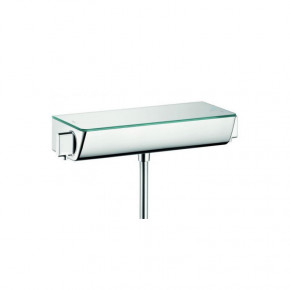 Hansgrohe Ecostat SELECT 13111000 Shower Thermostat Safety Glass Deck Top 1 Outlet Chrome