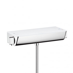 Hansgrohe Ecostat SELECT 13111400 Shower Thermostat Safety Glass Deck Top 1 Outlet White