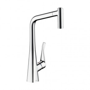 Hansgrohe 14820000 METRIS Kitchen Mixer Tall Faucet w/ Pull-Out Spray Single-Lever