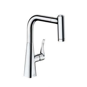 Hansgrohe 14834000 High-Class Kitchen Faucet w/ Pull-Out Spray 2 Jet Functions