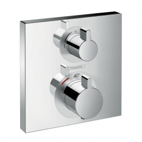 Hansgrohe Ecostat 15714000 Concealed Shower Thermostat for 2 Outlets w/ Diverter S