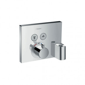 Hansgrohe ShowerSelect 1576500 Shower Thermostat w/ Integrated Holder 2 Outlets Concealed