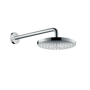 Hansgrohe SELECT 26466000 Overhead Shower 2 Rain Functions w/ Shower Arm Chrome