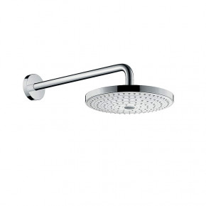 Hansgrohe SELECT 26466400 Overhead Shower 2 Rain Functions w/ Shower Arm White