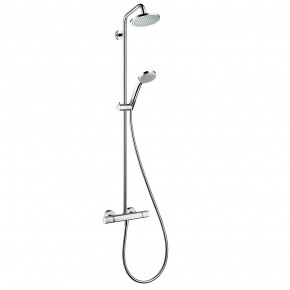 Hansgrohe Promo SHOWERPIPE Full Shower System w/ Thermostat Ecostat Comfort 27135000
