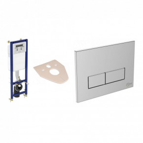 Ideal Standard Rectangular Dual Flush Control Plate Concealed Installation W3708AA