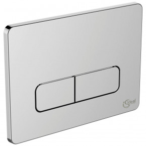 Ideal Standard Eco Systems Flush Control Plate Dual Chrome Rounded W3709AA