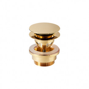 Catalano Basin Waste 1 1/4 Gold Plated Brass Push Click Clack Round 5PDSC00