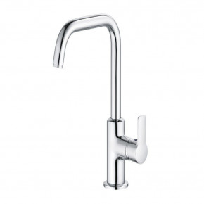 KLUDI PURE&EASY Tall Basin Mixer w/ Metal Waste Set Swivel Spout S-Pointer 370230565