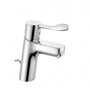 KLUDI PURE&EASY Basin Mixer 70 Extended Lever w/ Metal Waste Set 372840565