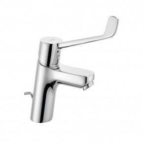 KLUDI PURE&EASY Basin Mixer 70 Extra Long Lever w/ Metal Waste Set 372870565