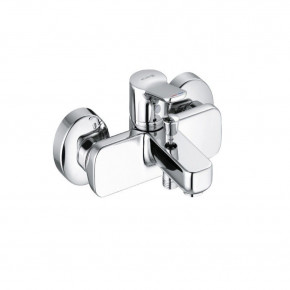 KLUDI PURE&EASY Shower and Bath Mixer 2 Outlets w/ Automatic Diverter 376810565