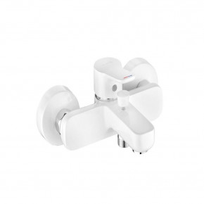 KLUDI PURE&EASY White Bath Mixer 2 Outlets w/ Automatic Diverter 376819165