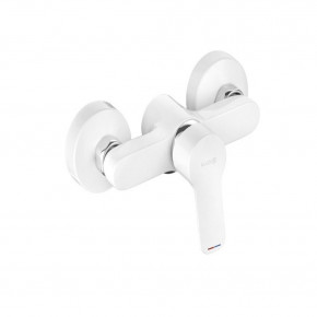 KLUDI PURE&EASY White Shower Mixer 1 Outlet Premium Single Lever 378419165