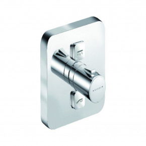 KLUDI PUSH In-Wall Shower Thermostat 2 Outlets Cube Push-Button Control 388110538