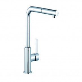 KLUDI L-INE S Single Lever Sink Mixer DN 15 Pull Out Hand Spray / Flexible 408510575
