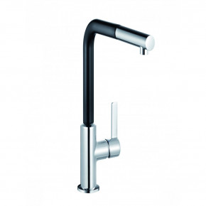 KLUDI L-INE S Single Lever Sink Mixer DN 15 Pull Out Hand Spray / Black 408518775