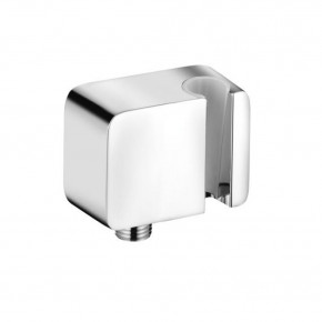 KLUDI A-QA Hand Shower Holder Integrated Wall Outlet for Conical Nut Hoses 6556005-00