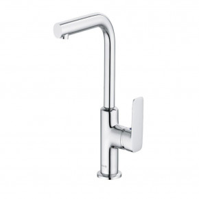 KLUDI Pure & Style Tall Basin Mixer L-Spout Swivel Bath Faucet with Waste Set 400250575