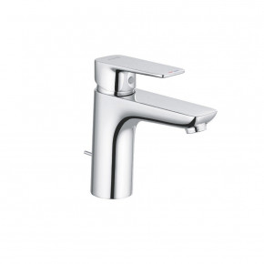 KLUDI Pure & Style Basin Mixer 100 with Metal Waste Set Bathroom Tap 402900575