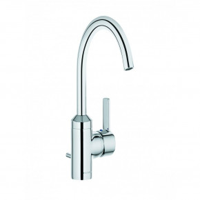KLUDI ZENTA Tall Basin Faucet C-Spout Bathroom Tap with Waste Set 382550575