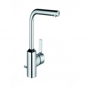 KLUDI ZENTA Tall Basin Faucet L-Spout Bathroom Tap with Waste Set 382940575