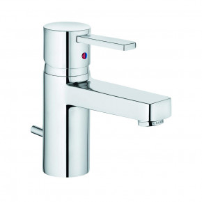 KLUDI ZENTA Small Basin Tap with Waste Set Cubic Bathroom Tap 382500575