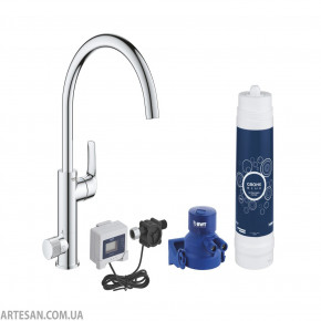 Grohe Blue Kitchen Mixer With Filter Function Single Lever Swivelling 30384000