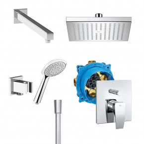 Roca PROMO SHOWER SET RocaBox Outlet w/ Thesis Mixer, Rain Shower and Hand Shower