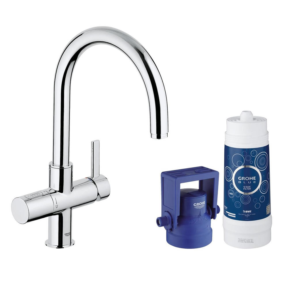 Details About Grohe Blue Kit C Tall Kitchen Faucet Water Filtration And Dispenser System 33
