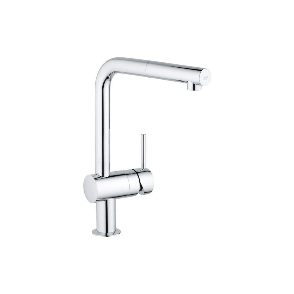Details About Grohe Minta Modern Tall Kitchen Faucet L Spout With Pull Out Spray 30274000