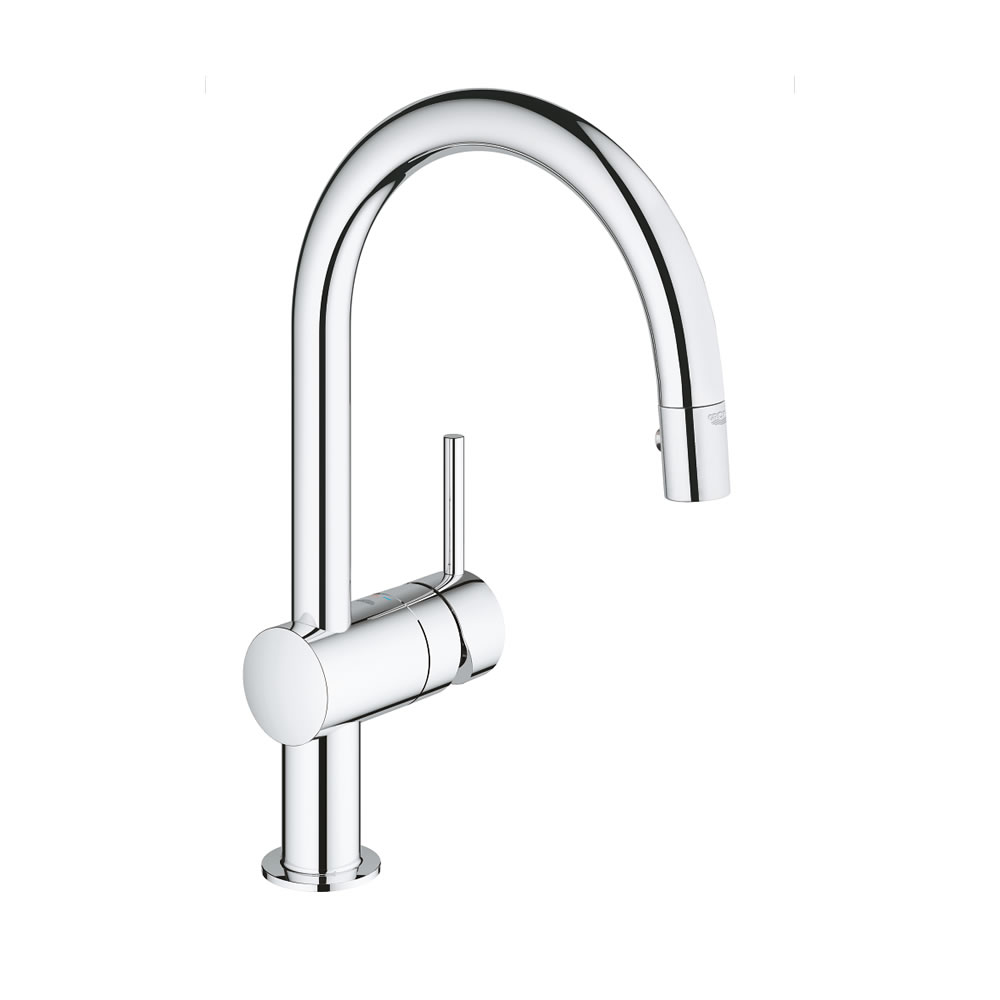 Grohe Minta Modern Tall Kitchen Faucet C Spout With Pull Out Spray 32321000 4005176830228 Ebay